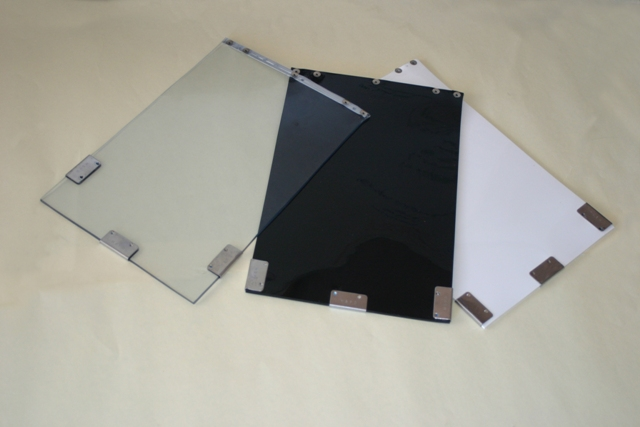 Three (3) available flap colors for Hale Pet Doors