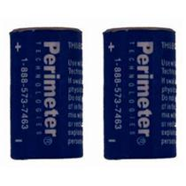 Two Pack Perimeter Pet Fencing Collar Replacement Batteries