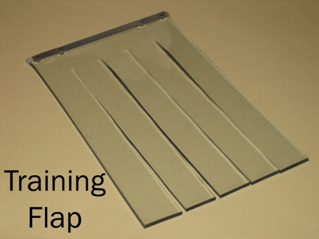 Pvc door dog flap